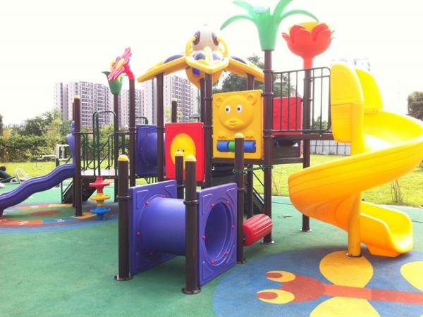 【国内】花都区合和新城户外大型儿童滑梯