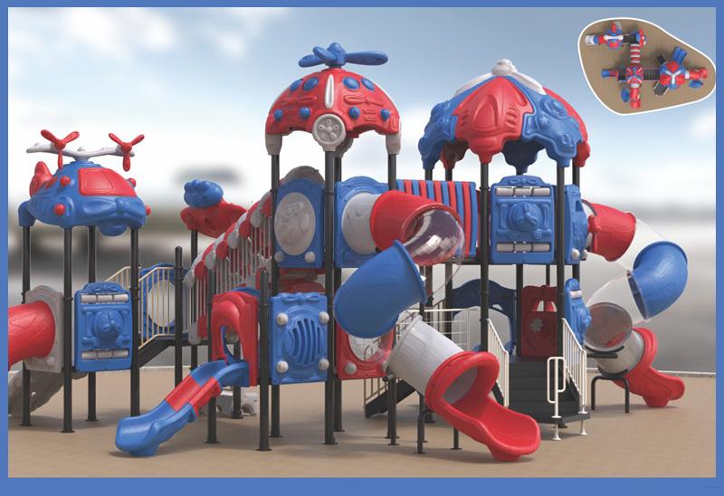 机海云天系列大型组合滑梯儿童游乐场设备-1912301