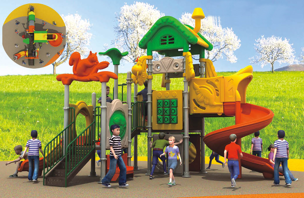 田园森林系列儿童室外滑梯