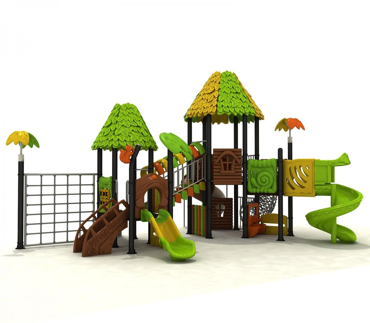 森林新型设计树叶滑梯