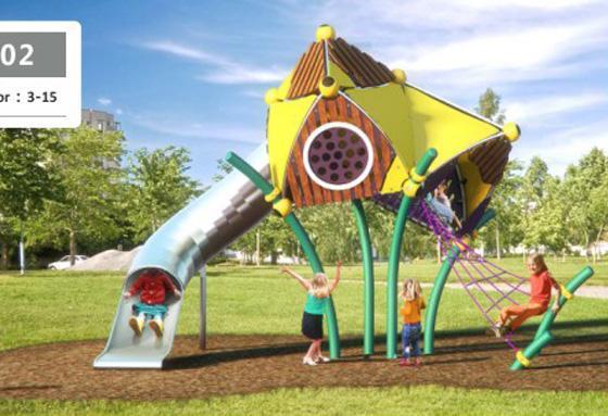 定制型大型儿童游乐场设备-1903201