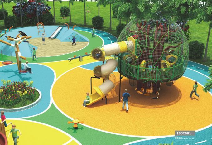 定制型树屋形状儿童游乐场设备-1902801