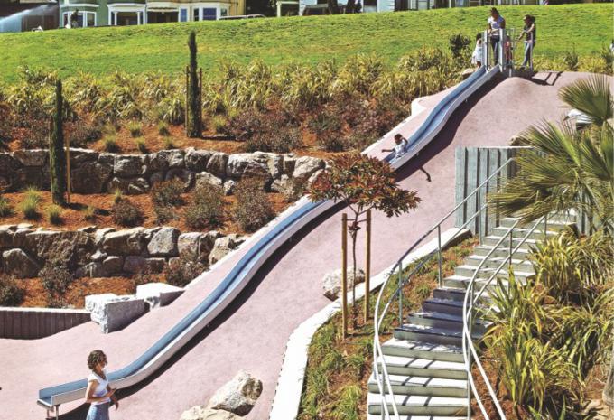 定制型 超长滑梯,儿童攀岩 游乐场设施 - 1901101
