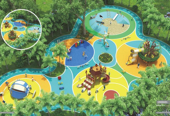 定制型 户外大型 儿童游乐场设备- 1900601