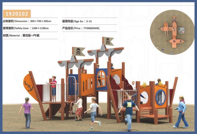 PE板组合滑梯系列大型儿童游乐场设备-1920102