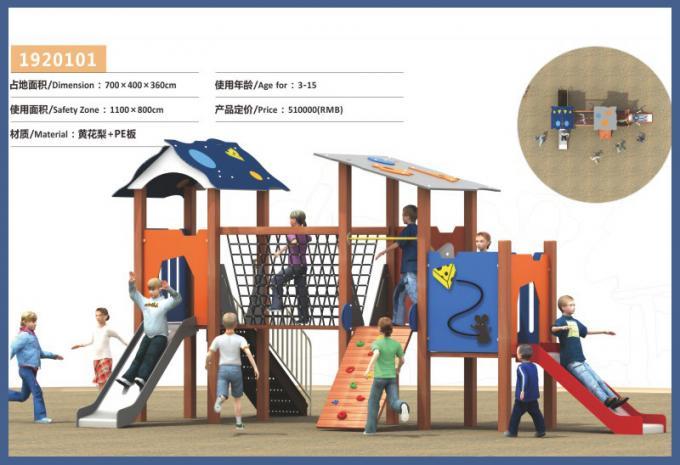 PE板组合滑梯系列大型儿童游乐场设备-1920101