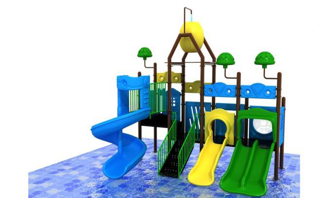 水上蓝色世界滑梯