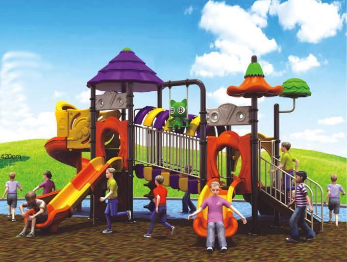 橙紫主题田园系列大型滑梯