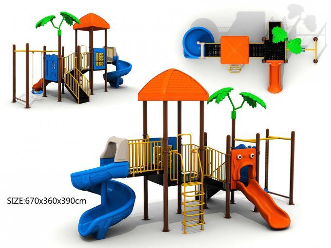 树林孩童滑梯