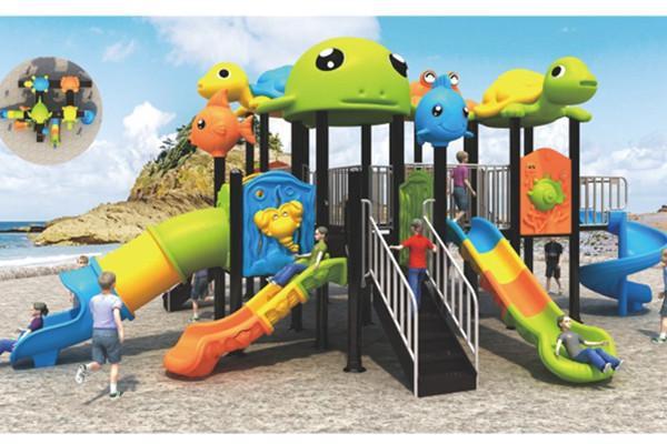 蓝色海洋世界儿童滑滑梯