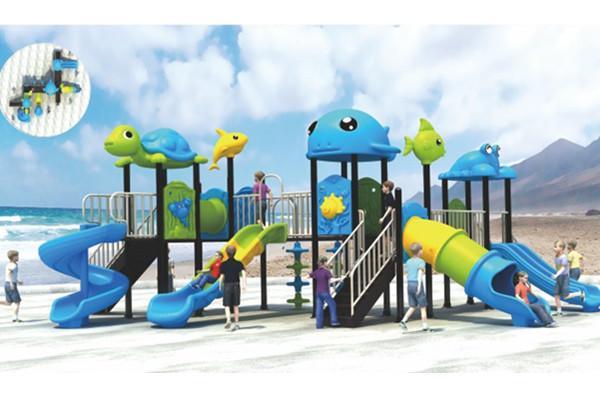 蓝色海洋儿童滑梯